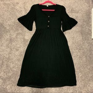 Bell Sleeve Maternity Dress